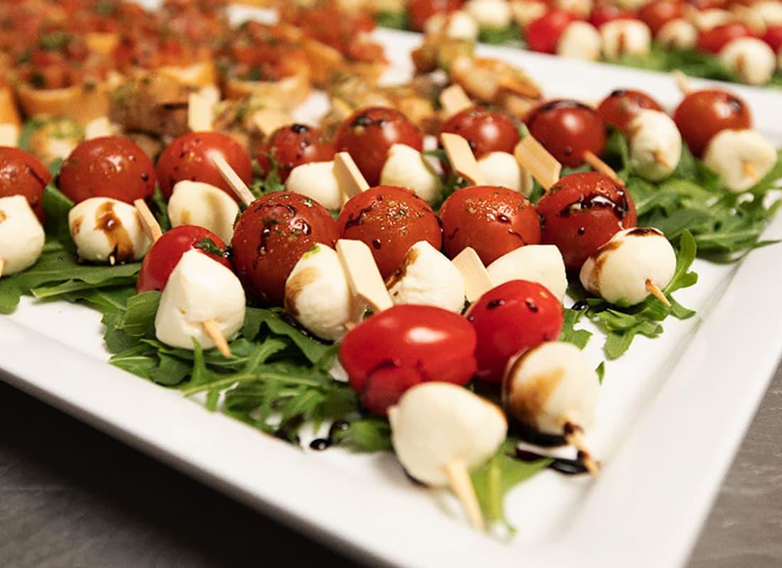 tomaten mozarella spiesse bei ed boys